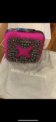 "Manolo Blahnik ""Hangi"" Abendtasche NEU"