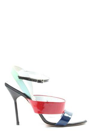 Manolo Blahnik High Heel Sandaletten mehrfarbig Business-Look