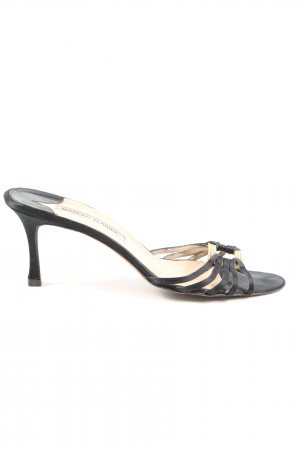 Manolo Blahnik High Heel Sandaletten schwarz Casual-Look