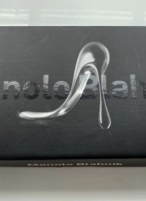 Manolo Blahnik Original Schuhlöffel Sammlerstück NEU Originalkarton Silber Designerstück Limited Edition