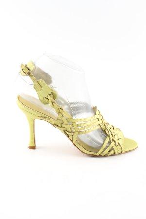 Manolo Blahnik Riemchen-Sandalen blassgelb Business-Look