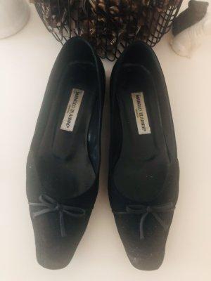 Manolo Blahnik Składane baleriny czarny