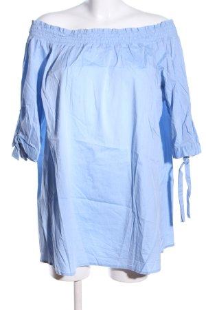 Manon Baptiste Carmen-Bluse blau Casual-Look
