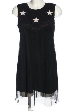 Manosque Trägerkleid schwarz Motivdruck Elegant
