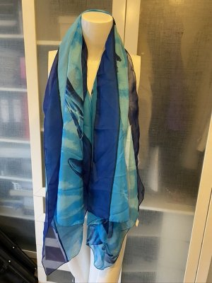 Manou Foulard bleu fluo-bleu polyester