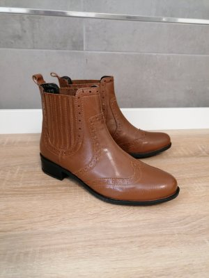 manoukian Boots Stiefelette Braun Schlupf neu 37.5