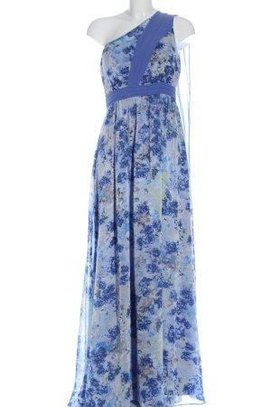 Manoukian Maxi Dress blue-light grey allover print elegant
