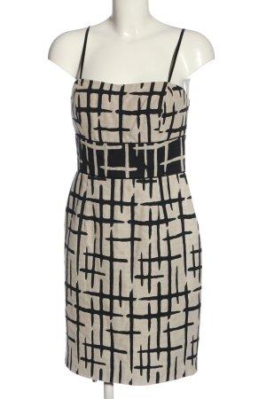 Manoukian Minikleid wollweiß-schwarz Allover-Druck Elegant