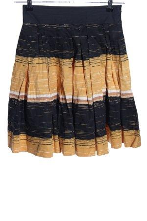 Manoukian Tulprok zwart-licht Oranje gestreept patroon casual uitstraling