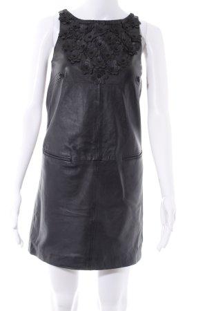 Manoush Vestito in pelle nero elegante
