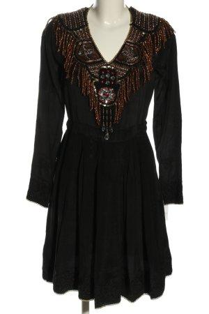 Manoush Vestido tipo túnica negro elegante