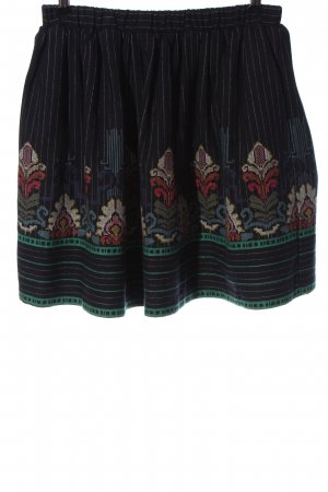 Manoush Jupe en laine noir motif abstrait style décontracté