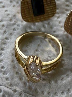 Manschettenknöpfe Ring gr 18/57 mit Stein