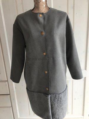 Zara Cappotto corto grigio-argento