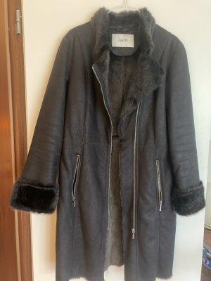 Malvin Abrigo de piel marrón oscuro