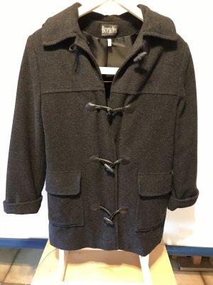 Boysen's Capuchon jas zwart Wol
