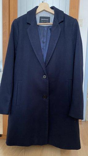 Stradivarius Winter Coat dark blue