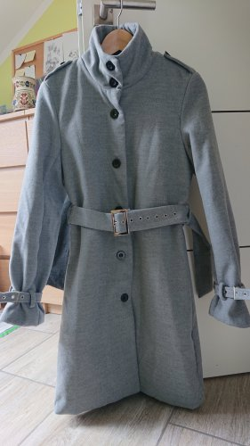 Wool Coat silver-colored