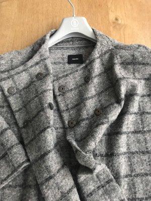 someday Krótki płaszcz szary-antracyt