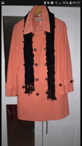 Ashley Brooke Coat Dress orange-apricot