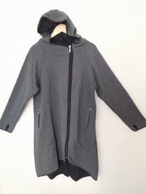 Sukienka płaszczowa czarny-ciemnoszary