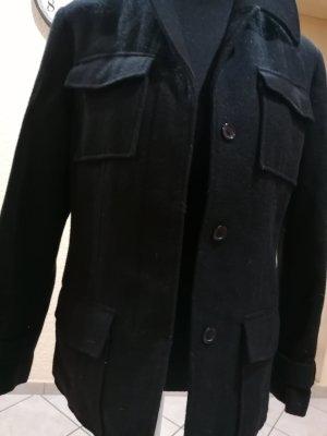 Benetton Marynarski płaszcz czarny