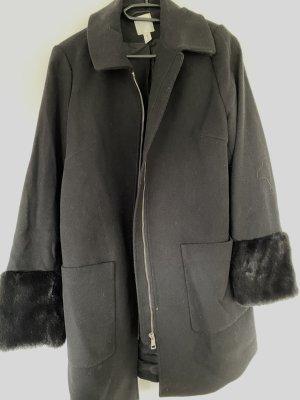 H&M Manteau polaire noir