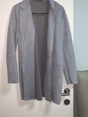 Zara Basic Fleece jas lichtgrijs-grijs