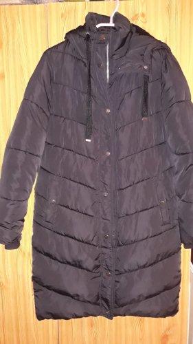 Primark Płaszcz zimowy czarny-szaro-brązowy