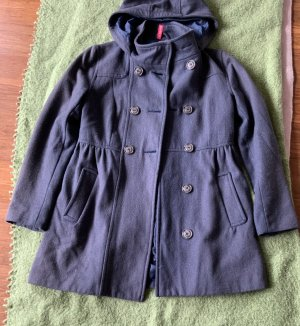 devided Hooded Coat grey violet