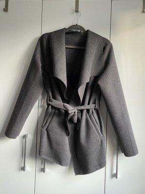 Colloseum Cappotto in pile grigio
