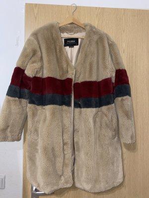 Pull & Bear Manteau en fausse fourrure multicolore