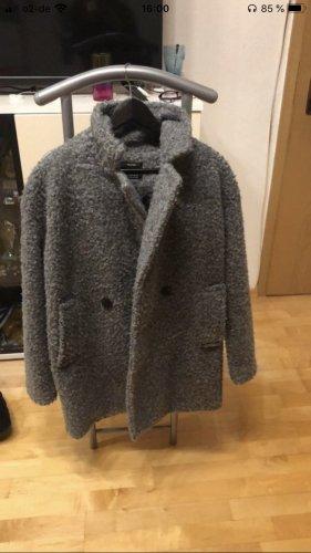 Bershka Abrigo de lana gris