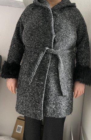 Manteau en duvet noir-gris clair