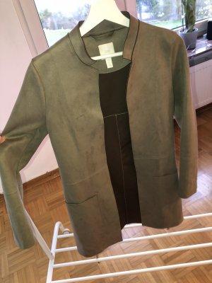 H&M Kurtka z imitacji skóry khaki