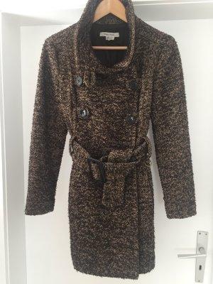 Zara Basic Wool Coat dark brown-beige
