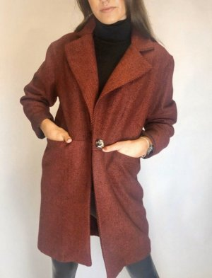 Made in Italy Heavy Pea Coat carmine-brown red