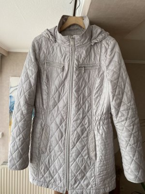Laundry room Hooded Coat silver-colored polyester