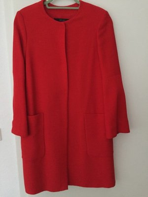 Zara Cappotto corto rosso Cotone