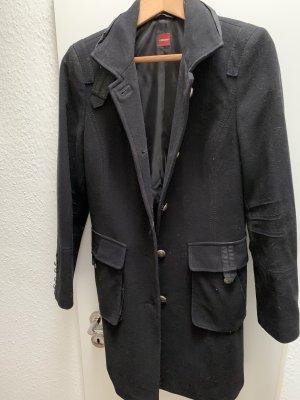 Olsen Cappotto in lana nero
