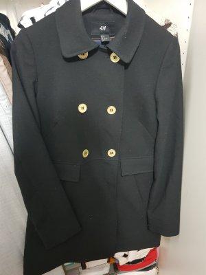 H&M Długa kurtka czarny