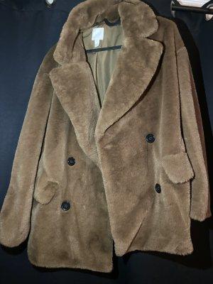Anna Glover × H&M Płaszcz ze sztucznym futrem brąz