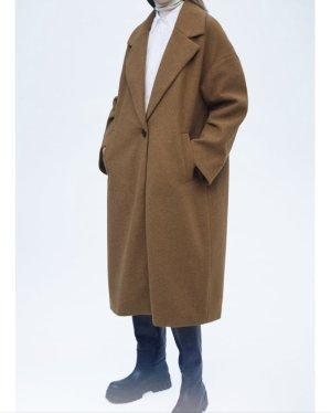Zara Marynarski płaszcz camel