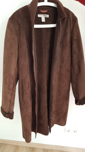 FlashLights Leather Coat brown