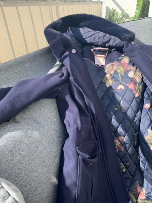 Ted baker Hooded Coat steel blue
