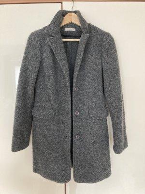 Stefanel Manteau en laine gris foncé-gris anthracite