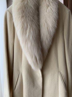 Cappotto invernale beige chiaro Tessuto misto