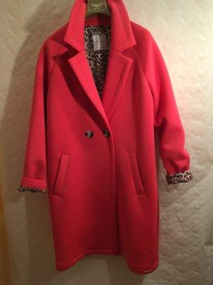 Abrigo ancho rojo claro