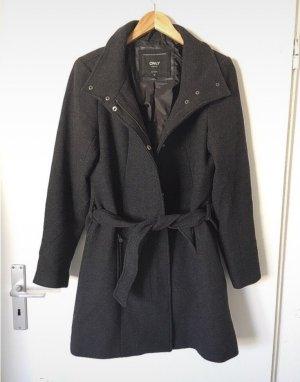 Only Heavy Pea Coat black