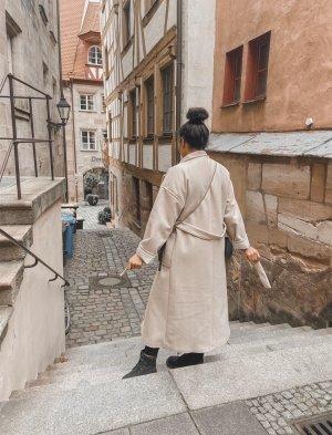 Zara Cappotto lungo fino a terra multicolore